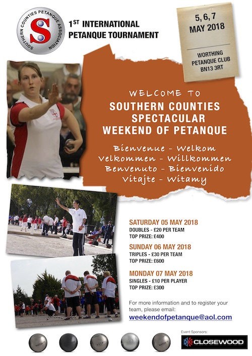 Weekend of petanque poster